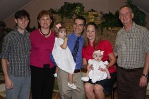 At Evie's Baby Dedication